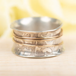 Stamped Spinner Ring