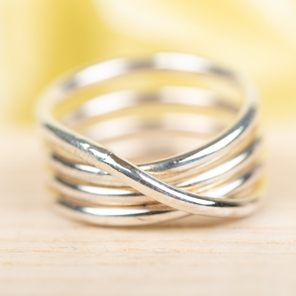 4-Wrapped Sterling Ring, Size 4.5