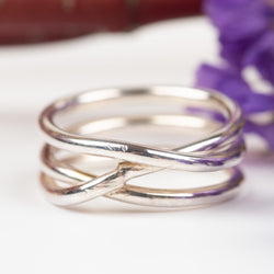 3-Wrap Sterling Silver Ring