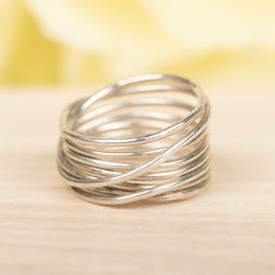 Multi-Wrapped Sterling Silver Ring, Size 5