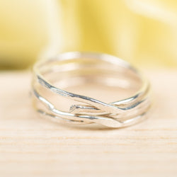 4-Wrapped Sterling Silver Ring, Size 5
