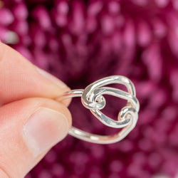 Circle Knot Sterling Ring