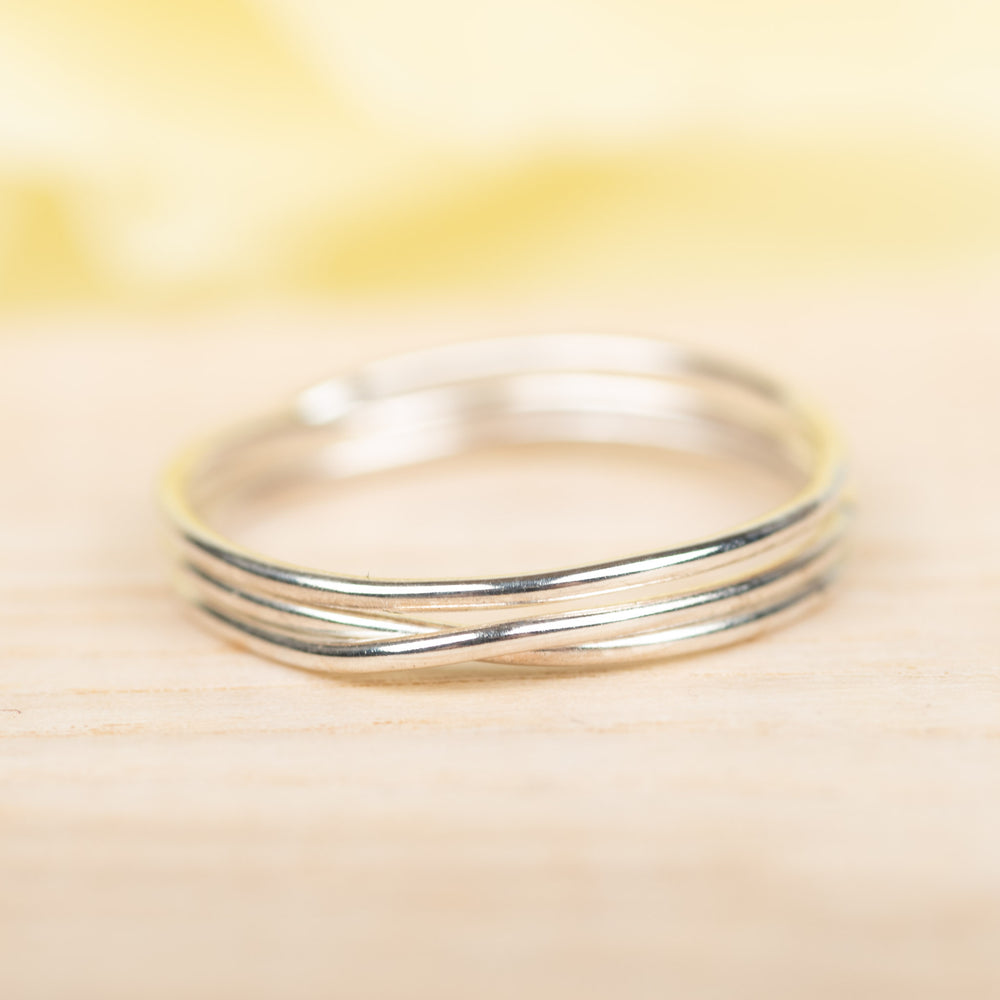 3 Wrap Sterling Ring, Size 9