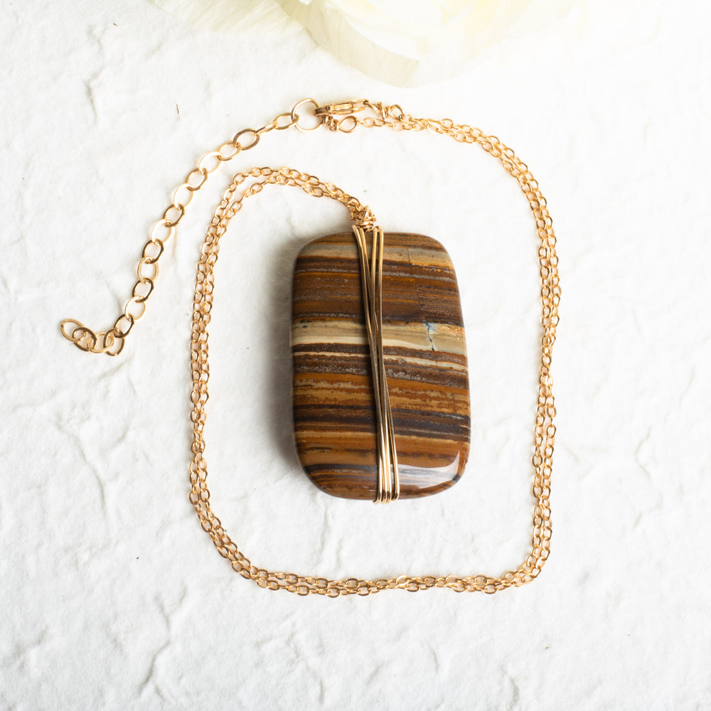 Jasper Wrapped Necklace