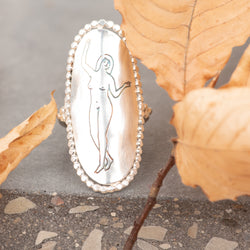 Etched Lady Ring