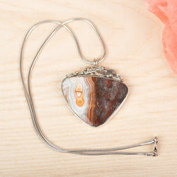 Mixed Metal Agate Pendant