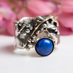 Wide Lapis Ring Size 7