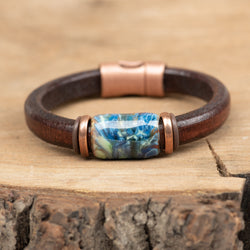 Bitterroot Leather Bracelet
