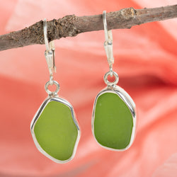 Lever Back Drop Earring: Lime