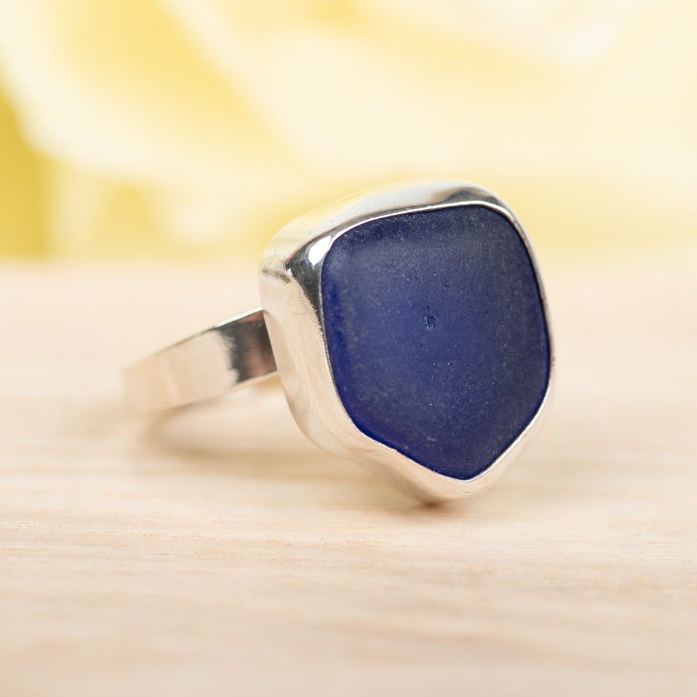 Cobalt Bliss Ring in Size 8