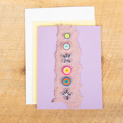 Circles and Lilacs Quilled Card