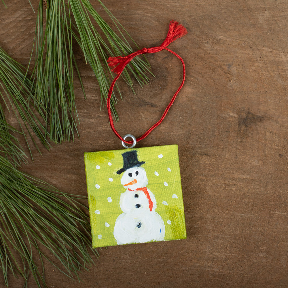 Winter Scene Ornament: Snowman