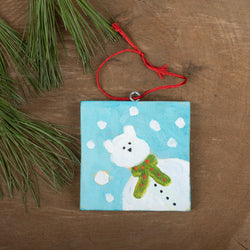 Winter Scene Ornament: Polar Bear
