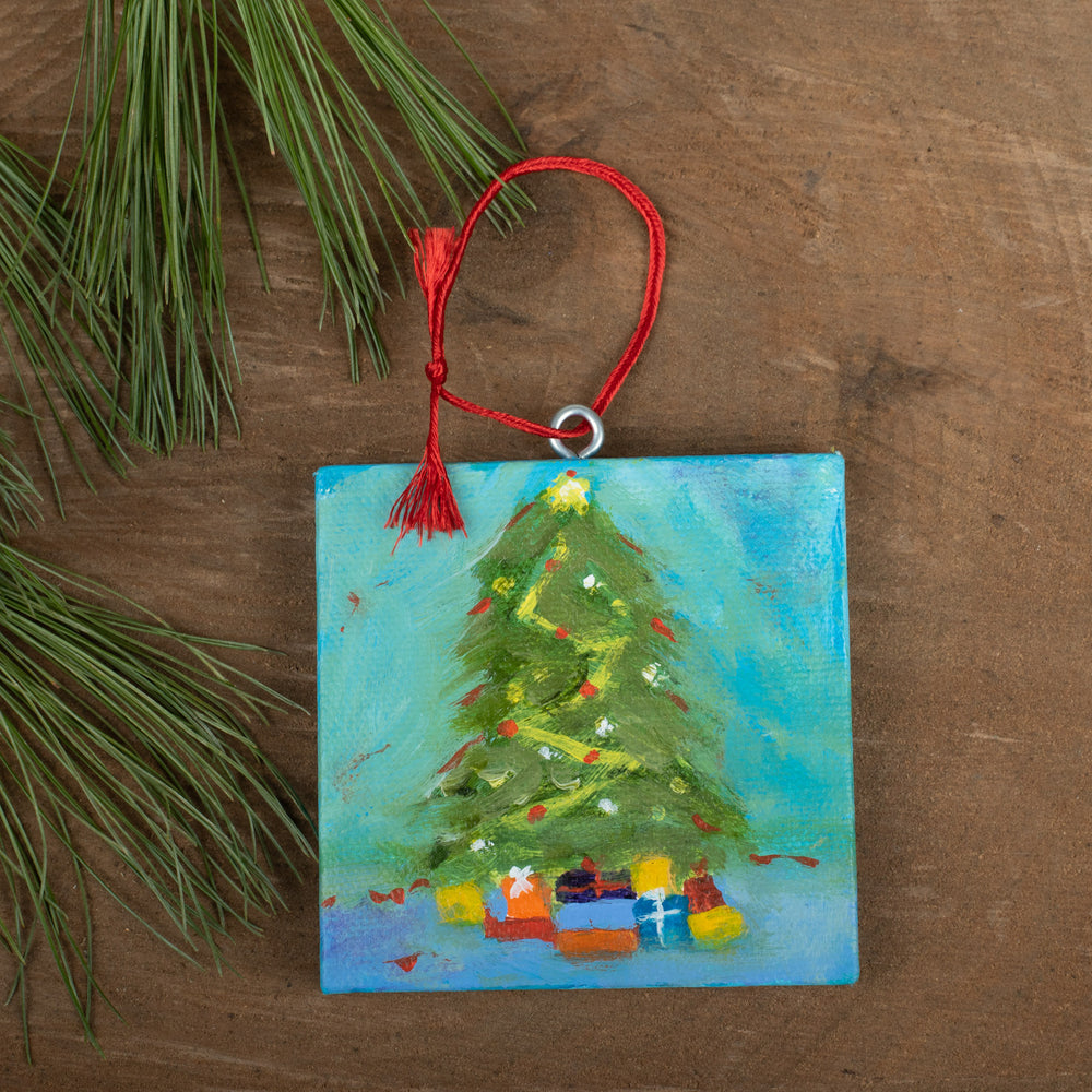 Winter Scene Ornament: O Tannenbaum