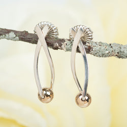 Criss-Cross Earrings With Gold Accent