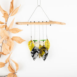 Yellow and Black Leaf Wind Chime