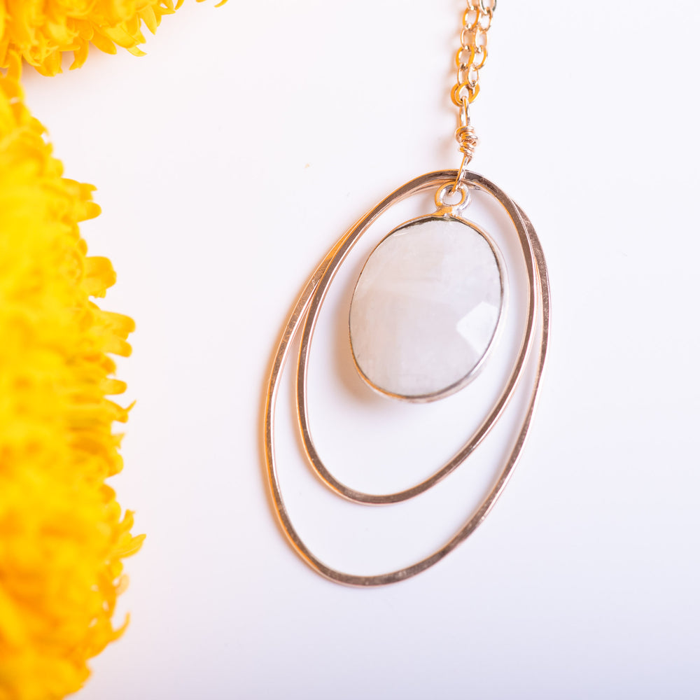 Moonstone Gold Fill Necklace