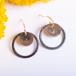 """Beautiful"" in Chinese Oxidized Earrings"