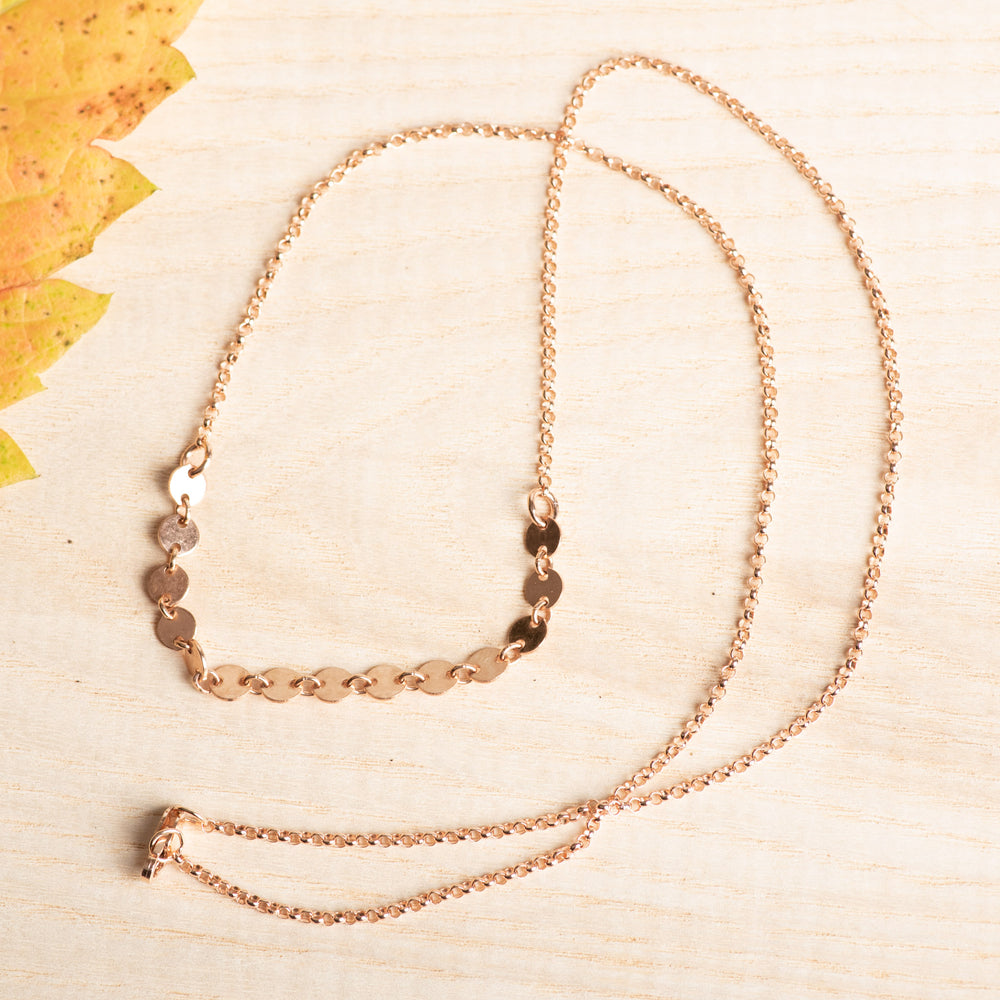 Flat Circle Chain Necklace