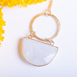 Half Moon Moonstone Necklace