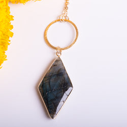 Opera Length Labradorite Necklace