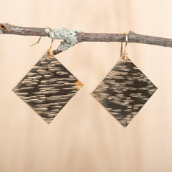 Large Square Textured Earring