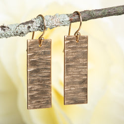 Rectangle Textured Earring