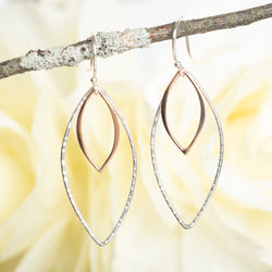 Open Layered Leaf Earrings