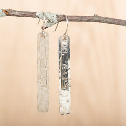 Short Layered Textured Rectangle Dangles
