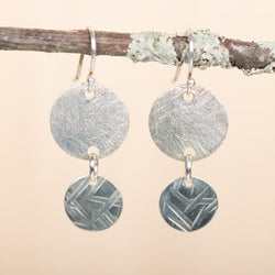 Double Disc Dangle Earrings