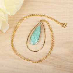 Teardrop Amazonite Necklace