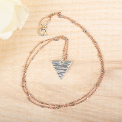 Textured Triangle Necklace