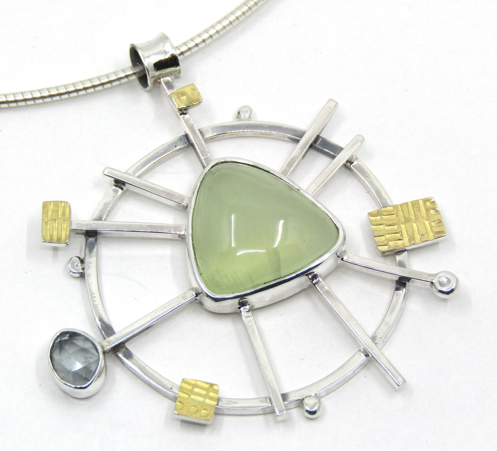 Prehnite and Aqaumarine Necklace