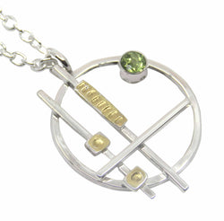 Abstract Circle Pendant With Peridot