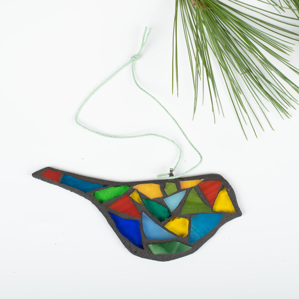 Rainbow Bird Ornament