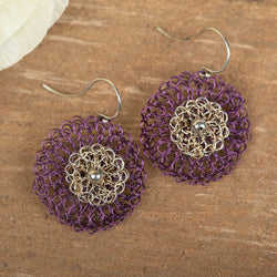 Medium Be Colorful Earring: Purple