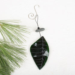 Emerald Leaf Ornament