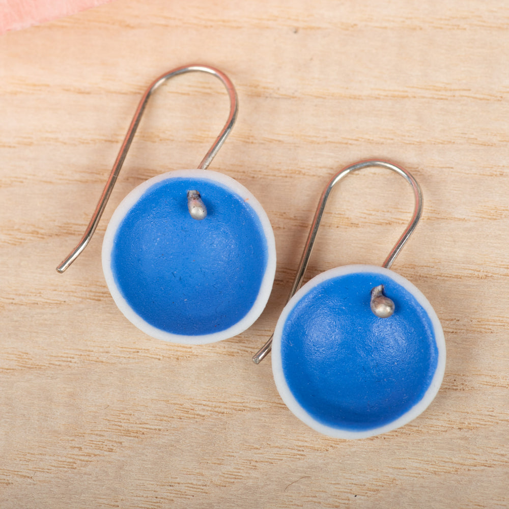 Single Pod Cobalt Earrings