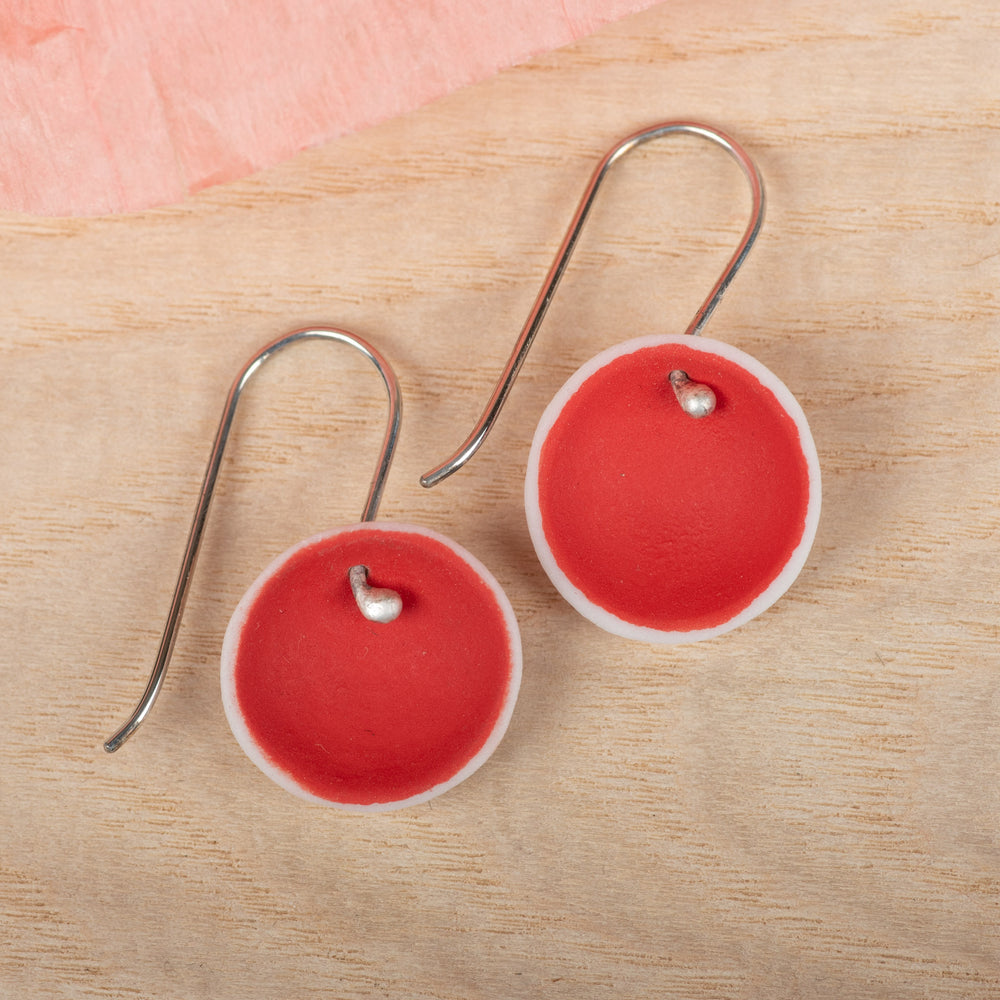 Single Pod Red Earrings