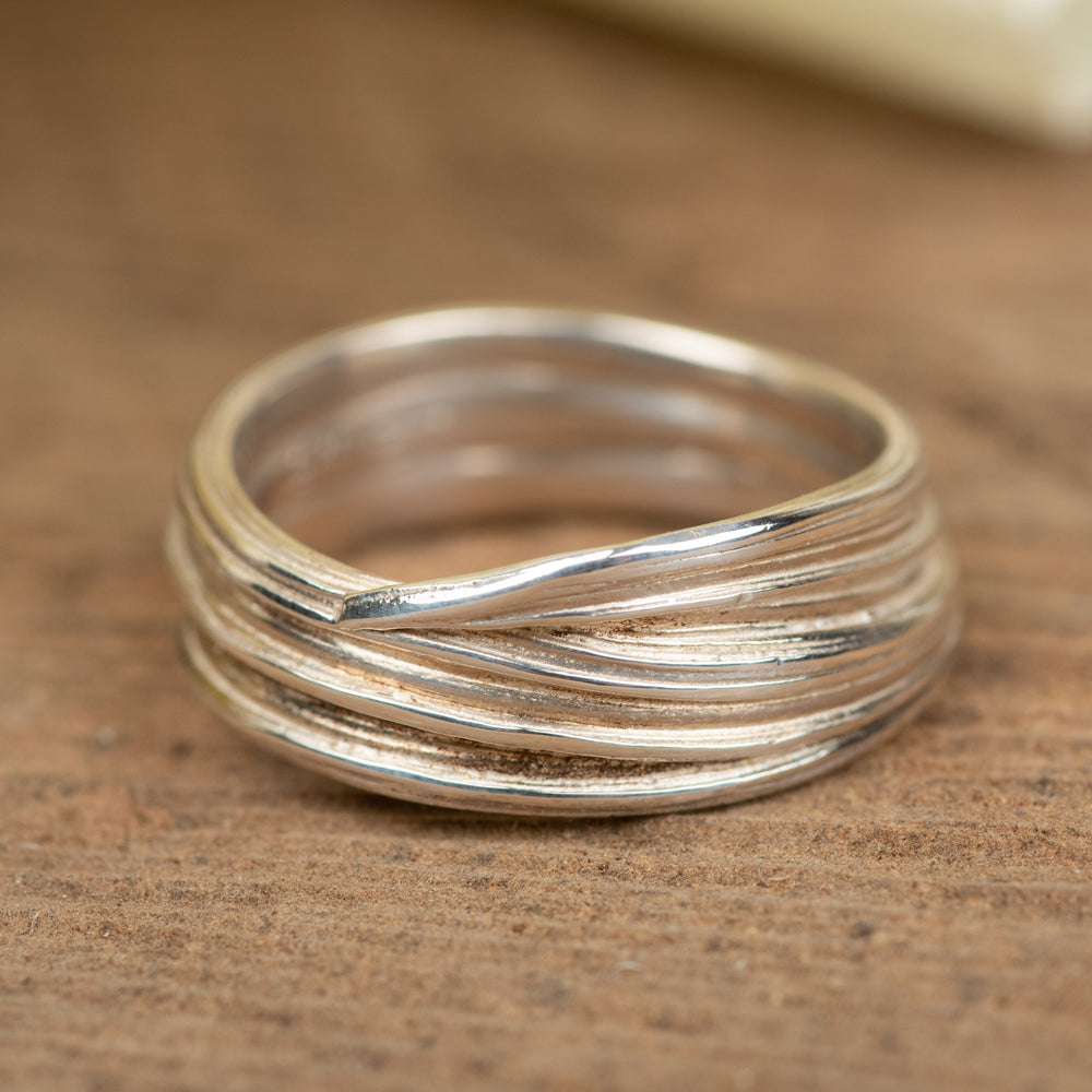 Wide Entwined Ring, Size 7