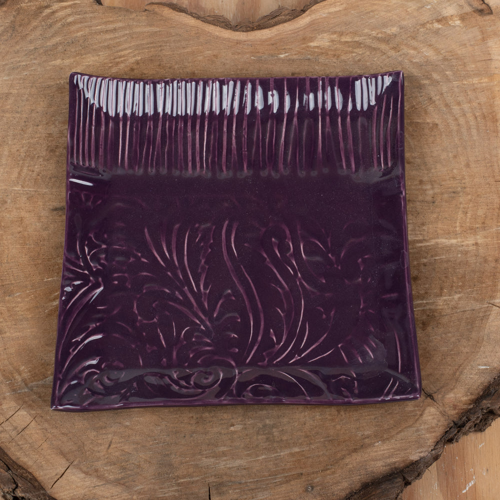 Purple Paisley Large Plate
