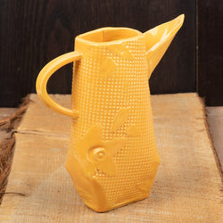 Orange Large Flower & Dot Pitcher