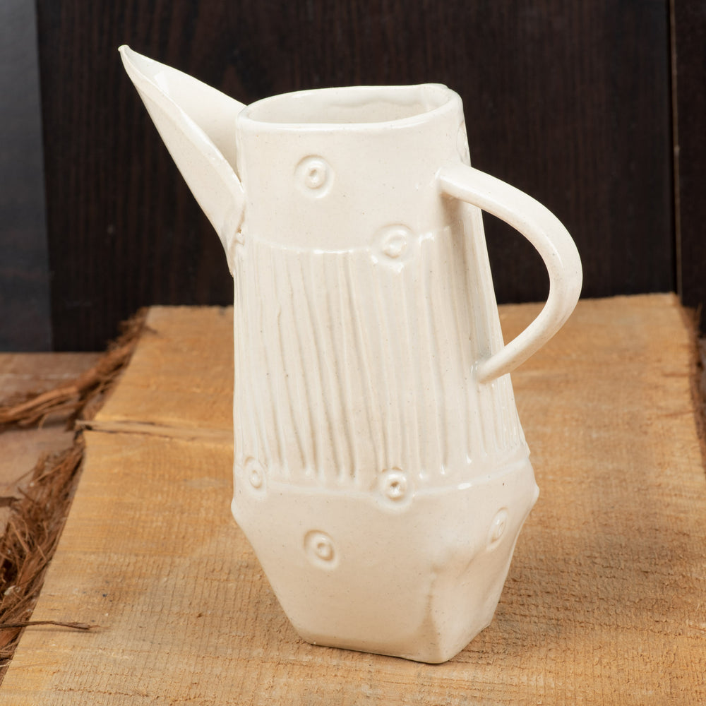 White Line and Dot Darted Pitcher