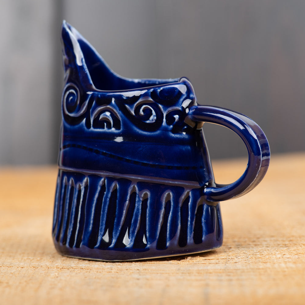 Cobalt Patchwork Mini Pitcher