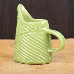 Leaf Green Flourish Stripe Mini Pitcher