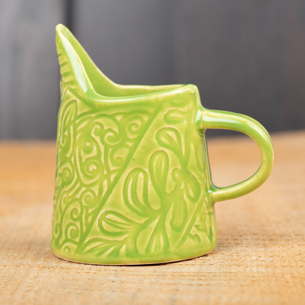 Lime Patchwork Vines Mini Pitcher