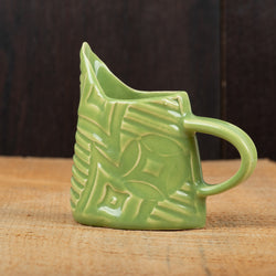 Leaf Green Patched Stripes Mini Pitcher