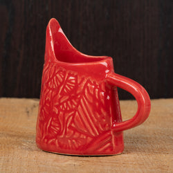 Red Patchwork Vines Mini Pitcher