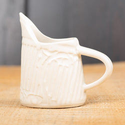 White Line & Flourish Mini Pitcher