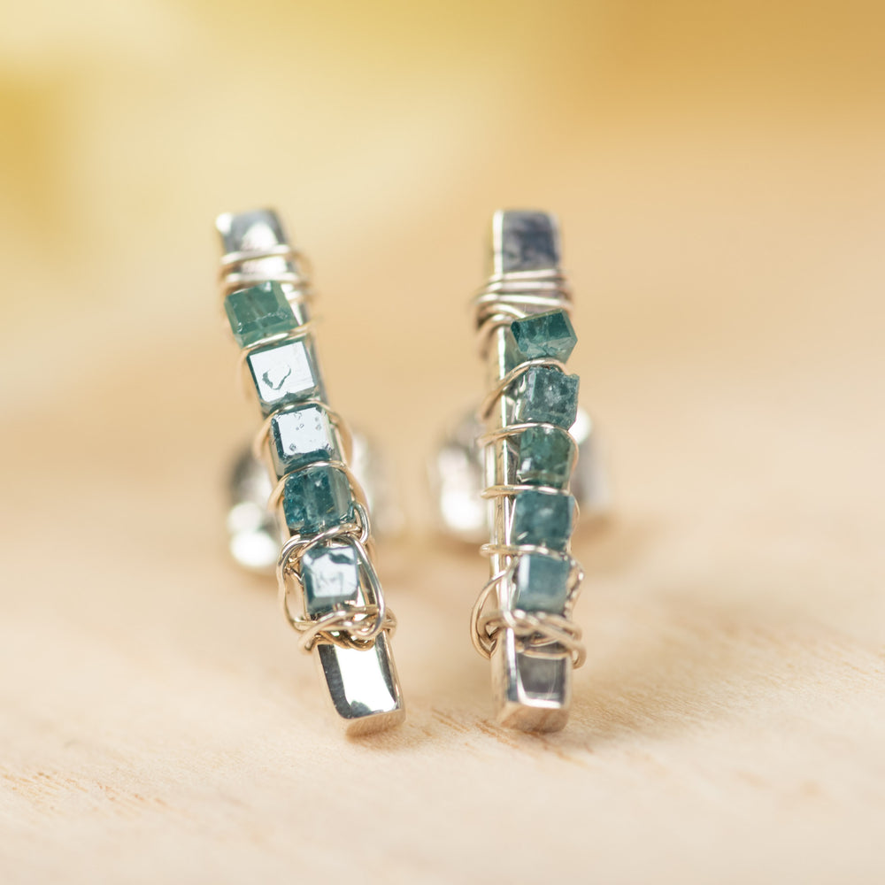 Blue Diamond Post Earrings